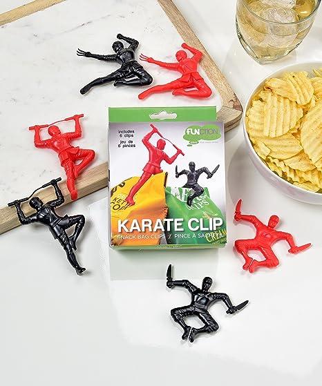 Juego de 6 de la novedad Ninja diseño chip Clips: Amazon.es ...