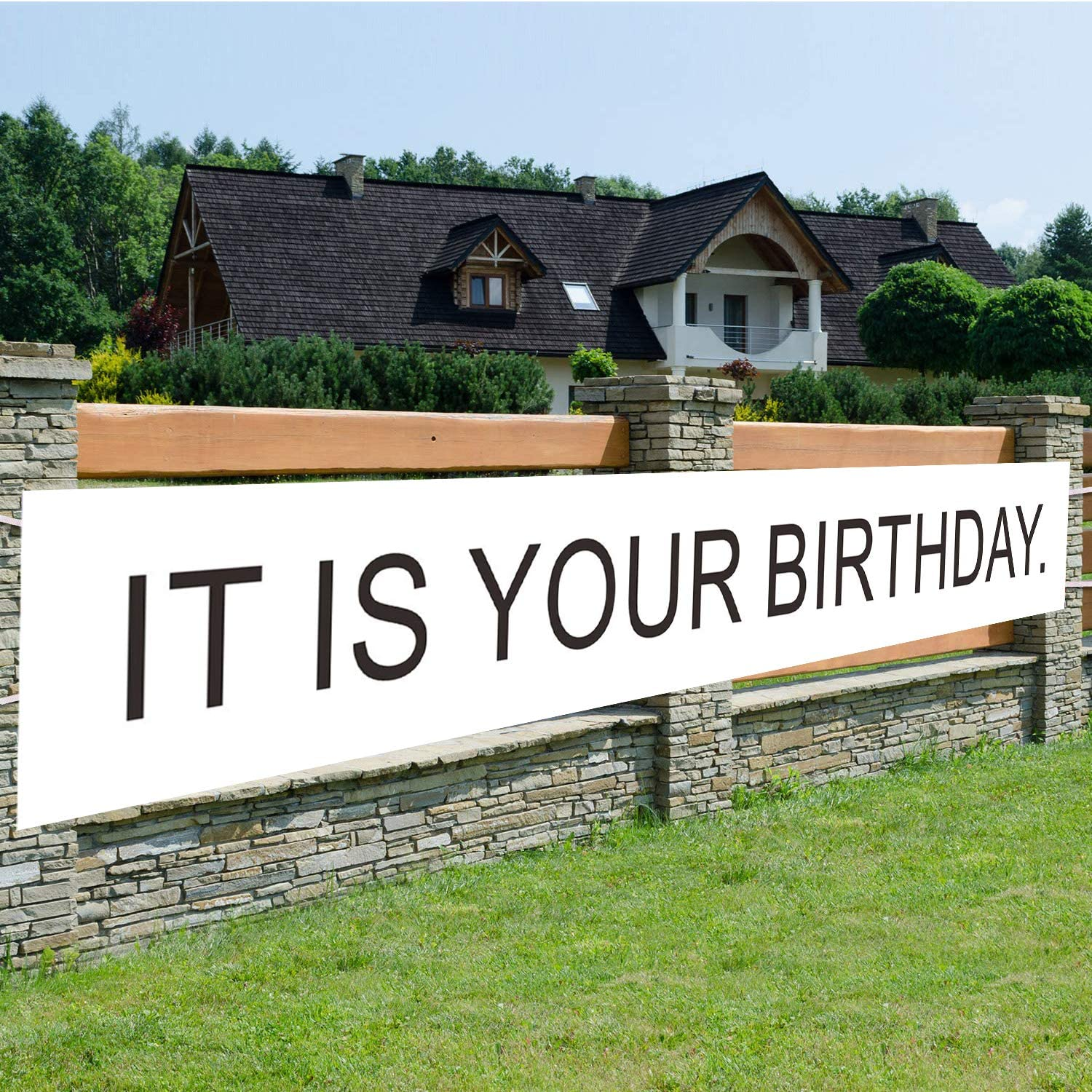 It's Your Birthday Birthday Banner,Large Sign,Huge House Home Outdoor Party Decorations