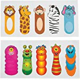 Fun Express Finger Animals Temporary Tattoo Assortment Party Favors - 12 pieces