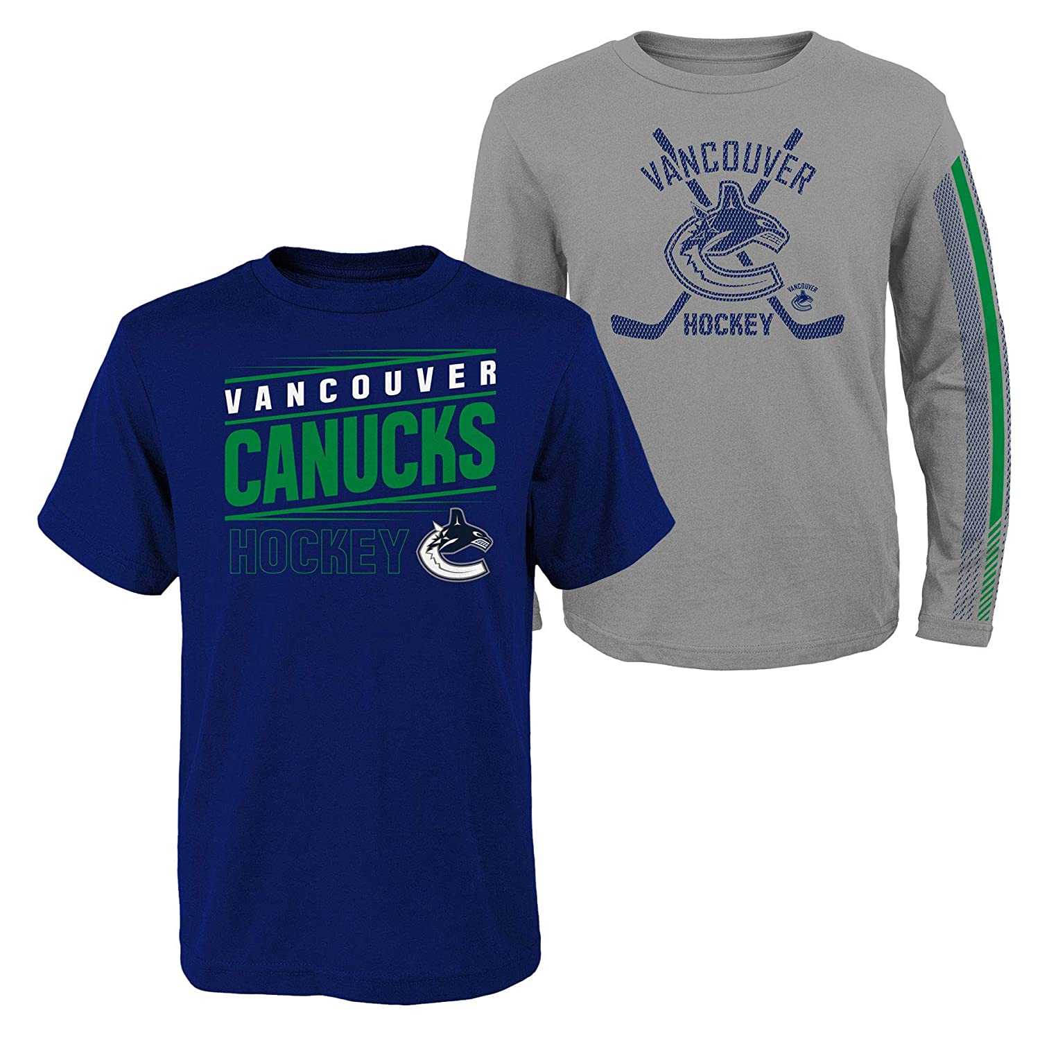 Vancouver Canucks Youth Binary 2-in-1 Long Sleeve//Short Sleeve T-Shirt Set