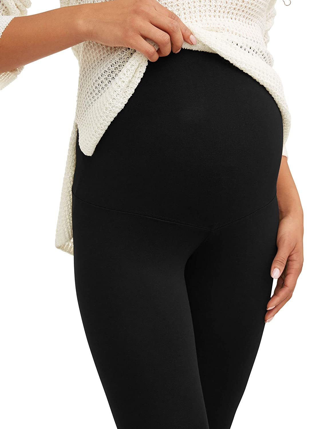 e3b8138a1ebd4 RUMOR HAS IT Maternity Over The Belly Capri Crop Support Leggings at Amazon  Women's Clothing store: