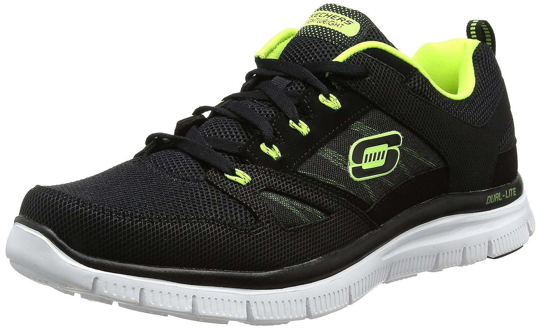 Skechers Flex Advantage, Zapatillas De Deporte Hombre 44 EU|Negro (Black/Lime)