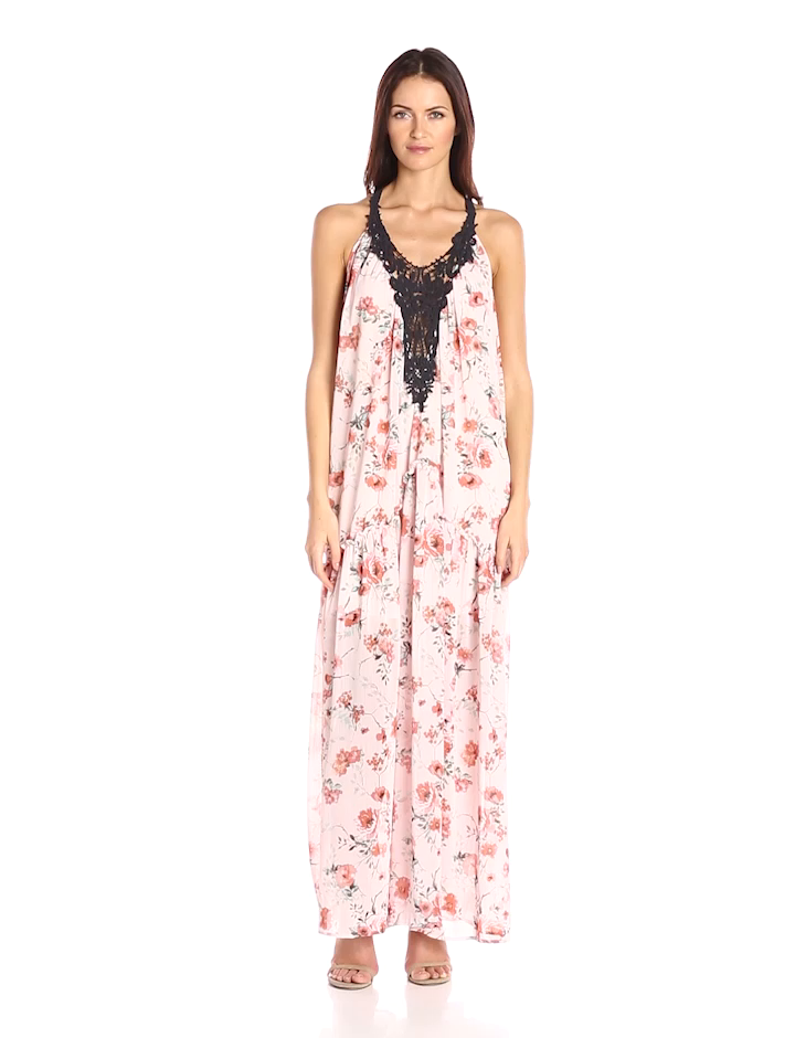9aeb05c076c Taylor and Sage Women s Print Maxi Dress with Large Applique at ...