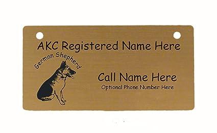 Amazon Com C3220 German Shepherd Sitting Crate Tag Personalized