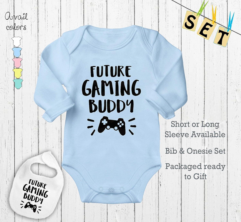 Video Games Newborn Baby Shirt Bodysuit Outfit Onesie /& Bib Future Gaming Buddy