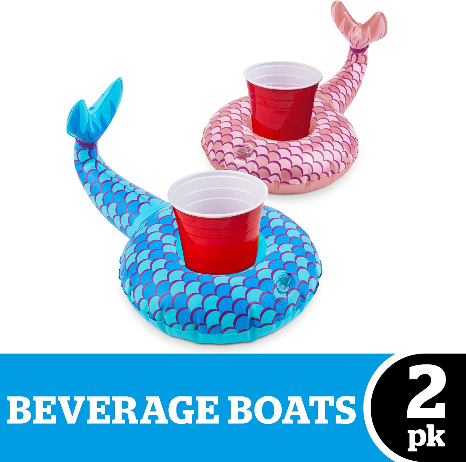 BigMouth Inc Mermaid Tails Beverage Boats (2-Pack)