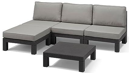 Allibert Lounge-Set Nevada 5tlg, graphit/cool grey