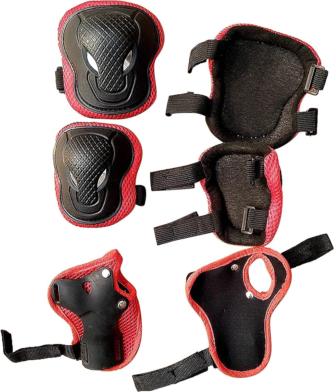 Pour patins /à roulettes scooter rose Genouill/ères et coudi/ères /Équipement de protection pour enfants patinage skateboard v/élo roller Taille unique /équitation YYWJ Pas de z/éro