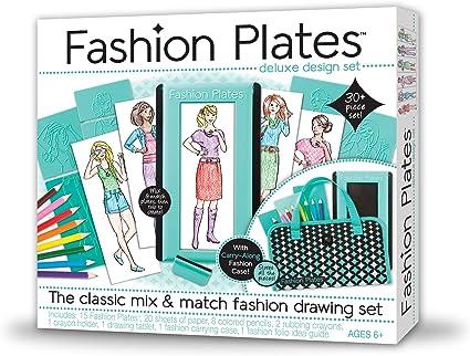 Amazon Com Fashion Plates Deluxe Kit Toys Games
