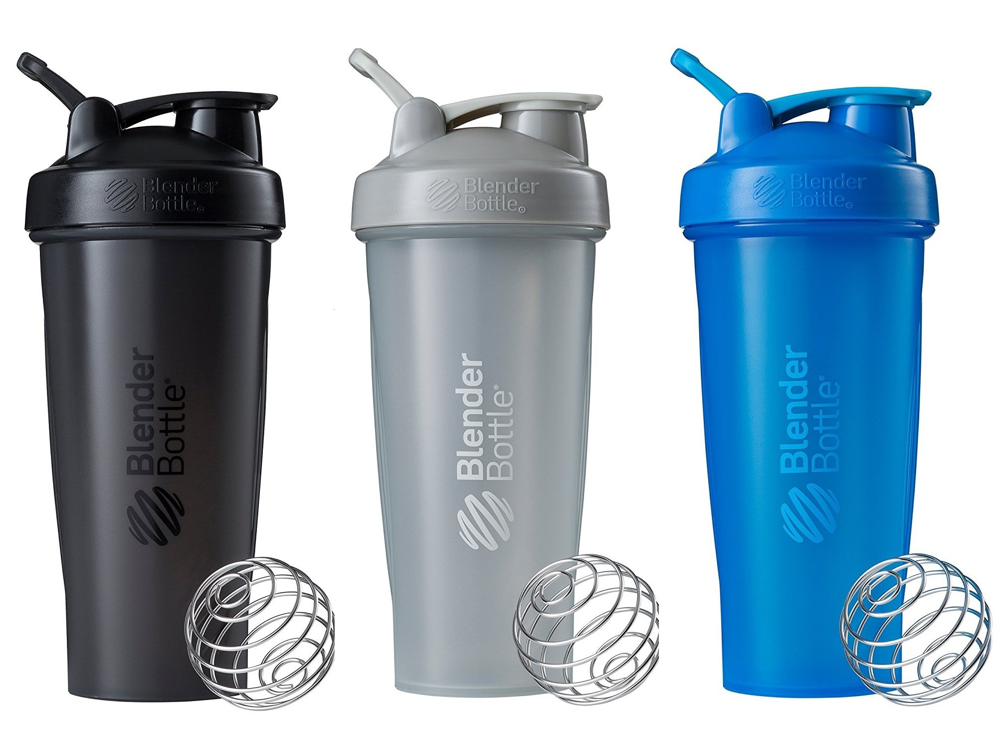 BlenderBottle Classic Loop Top Shaker Bottle 3-Pack, 28 oz, Colors may vary by Blender Bottle