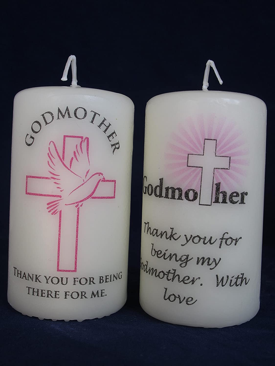 Personalised Godmother /& Godfather candles