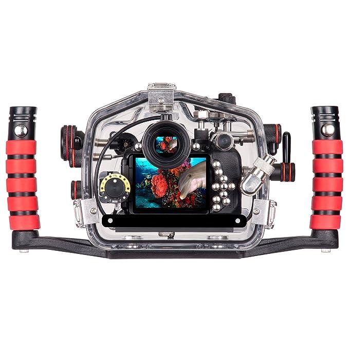 Ikelite - Cubierta de la cámara submarino para dslr nikon d5500 ...