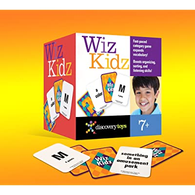 Discovery Toys WIZ Kidz Categories Family Card Game in Travel Box: Toys & Games