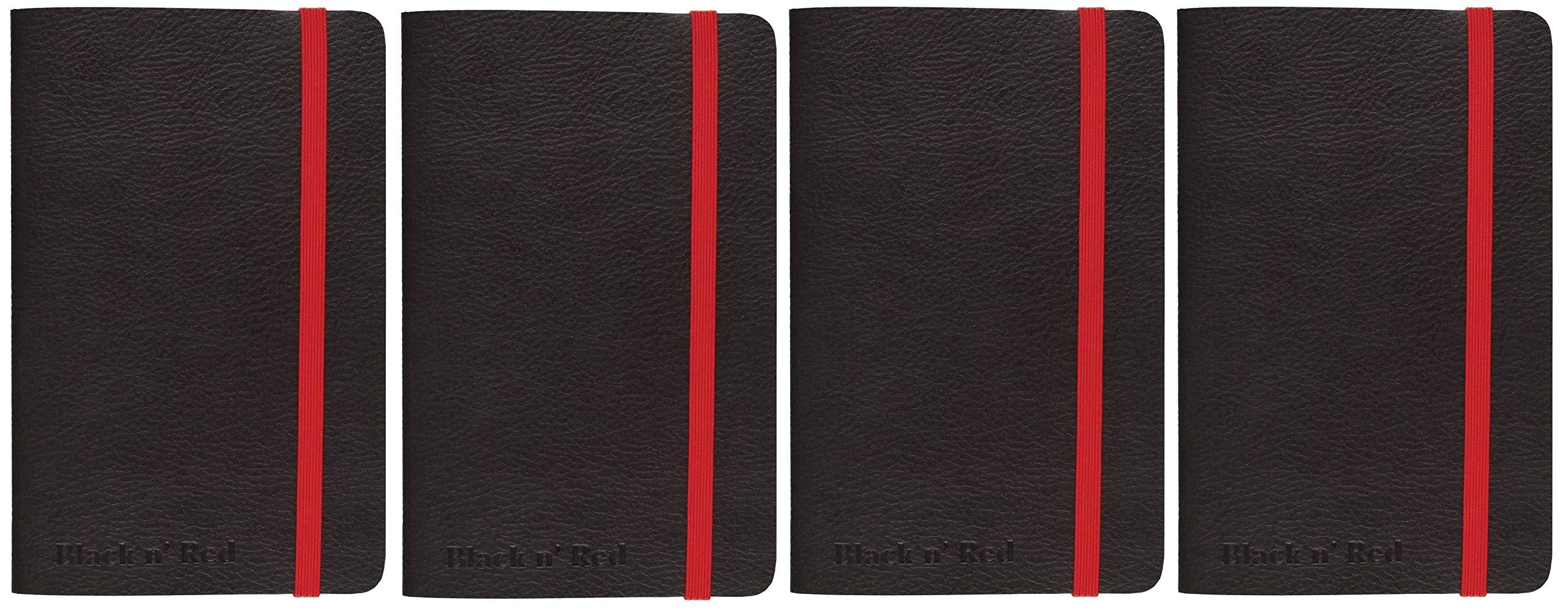 Black n' Red Business Journal, 71 Sheets, 8-1/4 x 5-3/4'', Black (400065000) (Fоur Paсk)