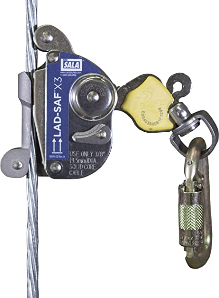 3M DBI-SALA 6160054 Lad-Saf X3 Detachable Cable Sleeve with carabiner cam &