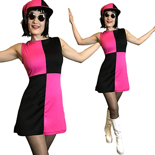 Disfraz de mujer Mod Girl para adultos de los años 60 y 70, estilo ...