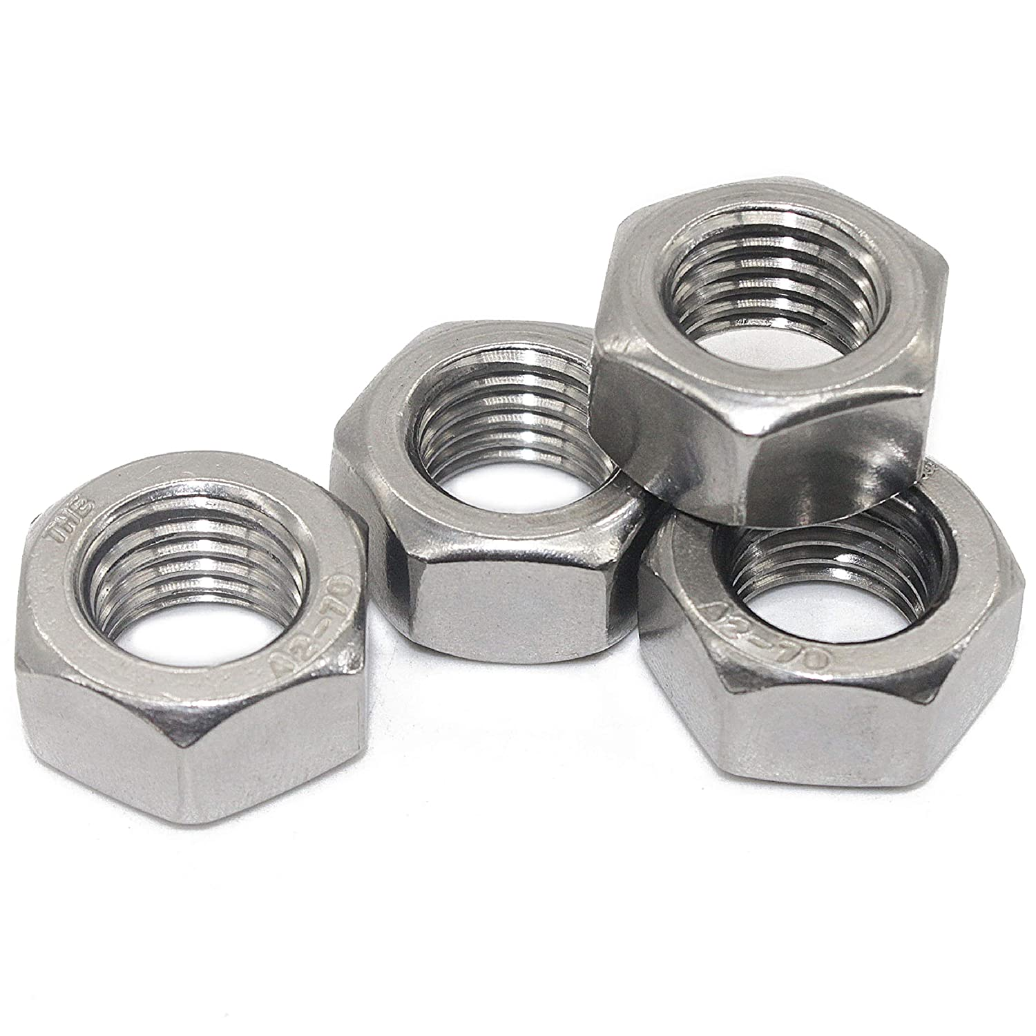 by Fullerkreg 304 18-8 Stainless Steel Nuts. 10 Pcs M16 x 2 mm Stainless Hex Nut