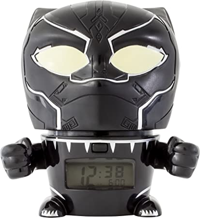 Réveil veilleuse avec sons du personnage pour enfant BulbBotz Marvel 2021449 Avengers: Infinity War Panthère Noire