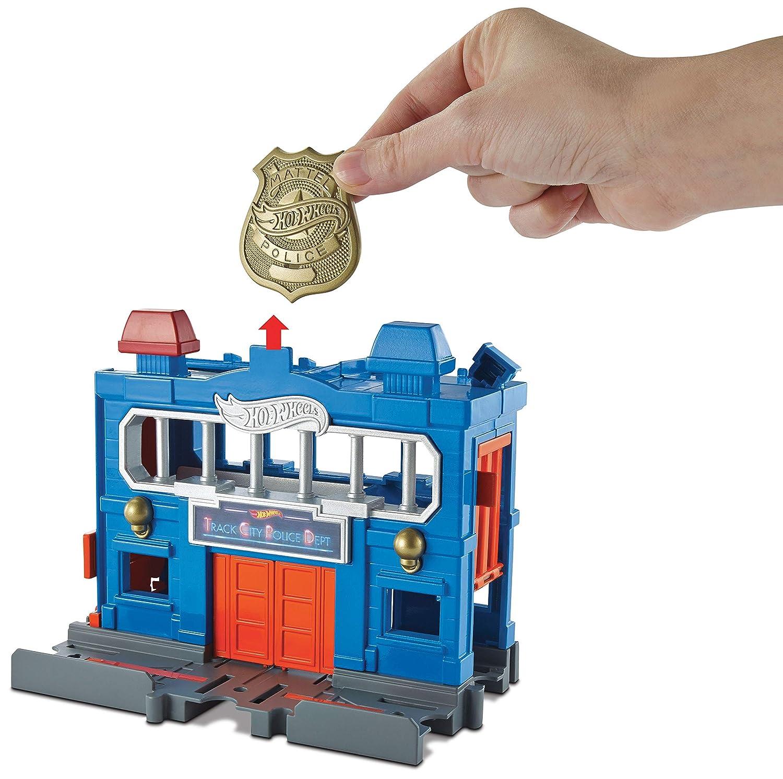 Hot Wheels Escape de la estación de policías, pista de coches de juguete (Mattel FRH33): Amazon.es: Juguetes y juegos