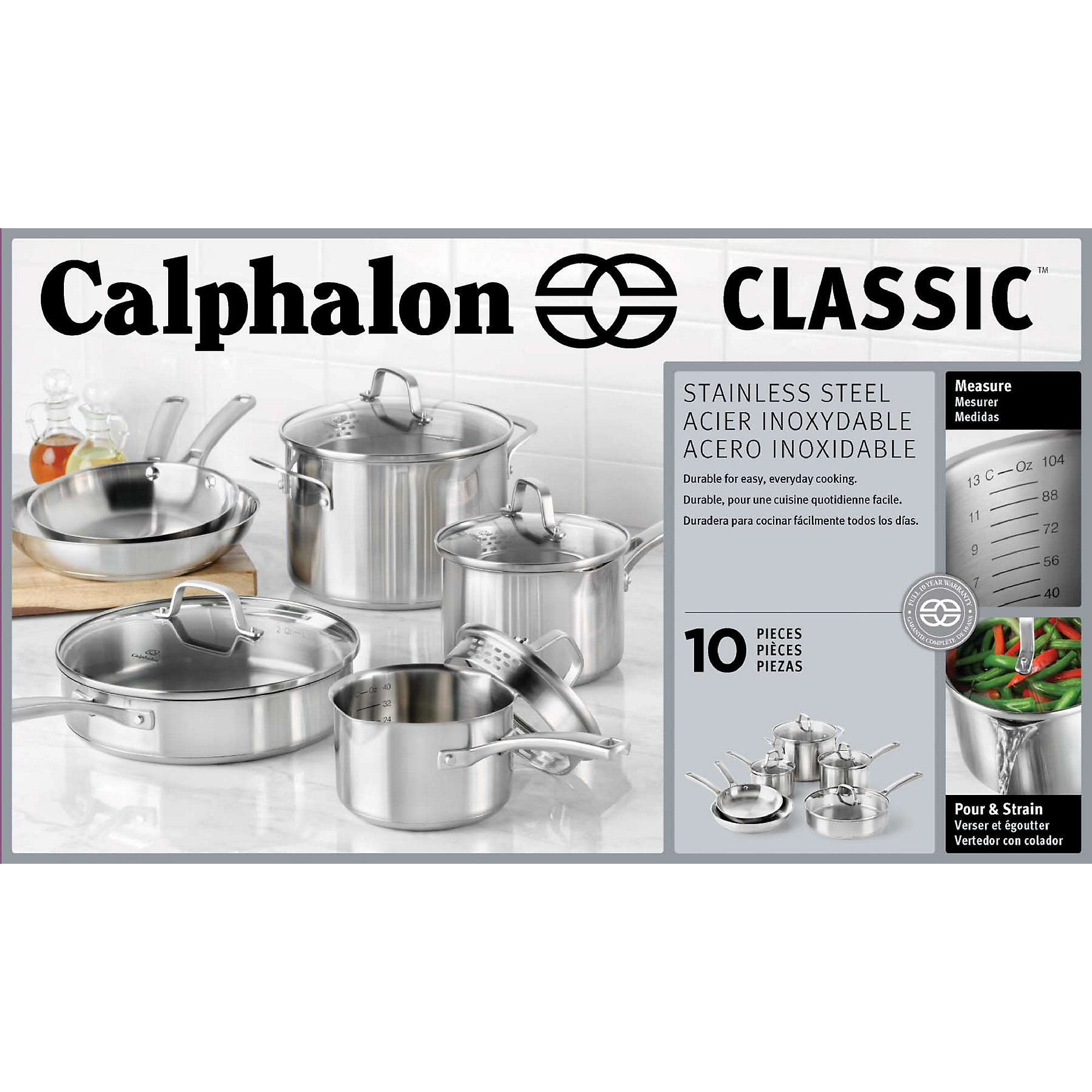Calphalon Classic Stainless Steel Cookware Set, 10-Piece by Calphalon (Image #4)