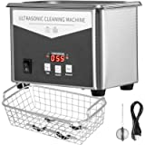 VEVOR 0.8L Professional Ultrasonic Cleaner 304 Stainless Steel Digital Lab Ultrasonic Cleaner with Timer for Jewelry…