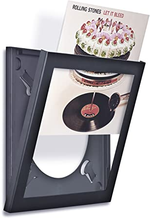 art vinyl play and display record frame
