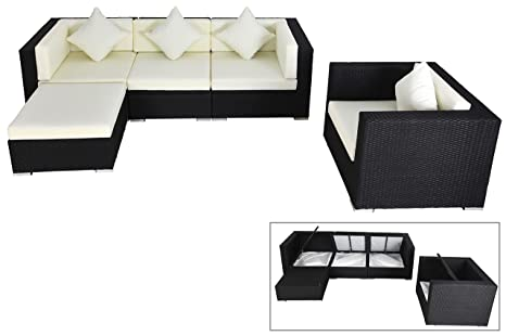 Outflexx lounge divano set con cuscino per sedia e sgabello in