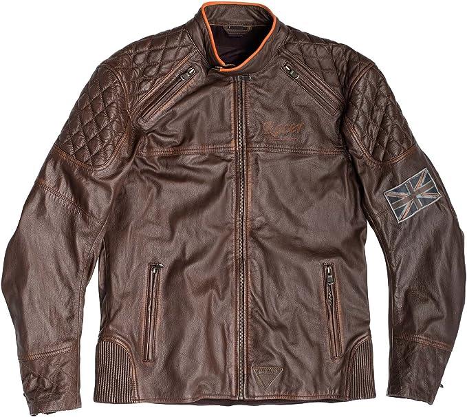 Giacca da moto da uomo in pelle Urban giacca in pelle marrone XXXL marrone