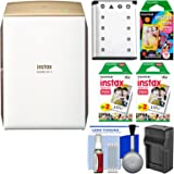 Fujifilm Instax SHARE SP-2 Instant Film Wi-Fi Smartphone Printer (Gold) with 40 Color Prints + 10 Rainbow Prints + Battery & Charger + Kit