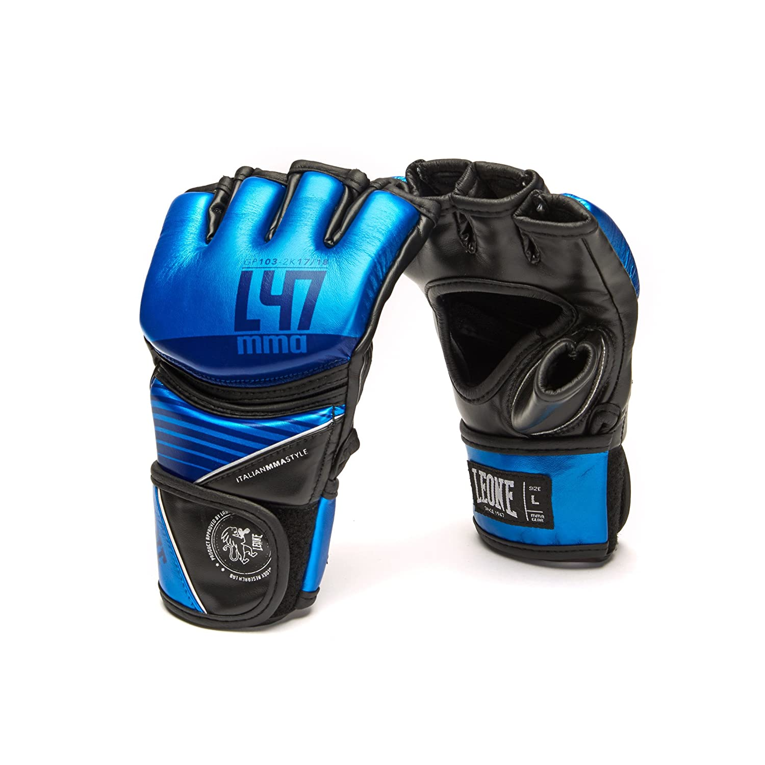 Impact Grappling Gloves Martial Arts Sparring Gloves Punching Bag Cage Fight Gloves UFC Combat Training Gloves Leone 1947 MMA Leather Gloves