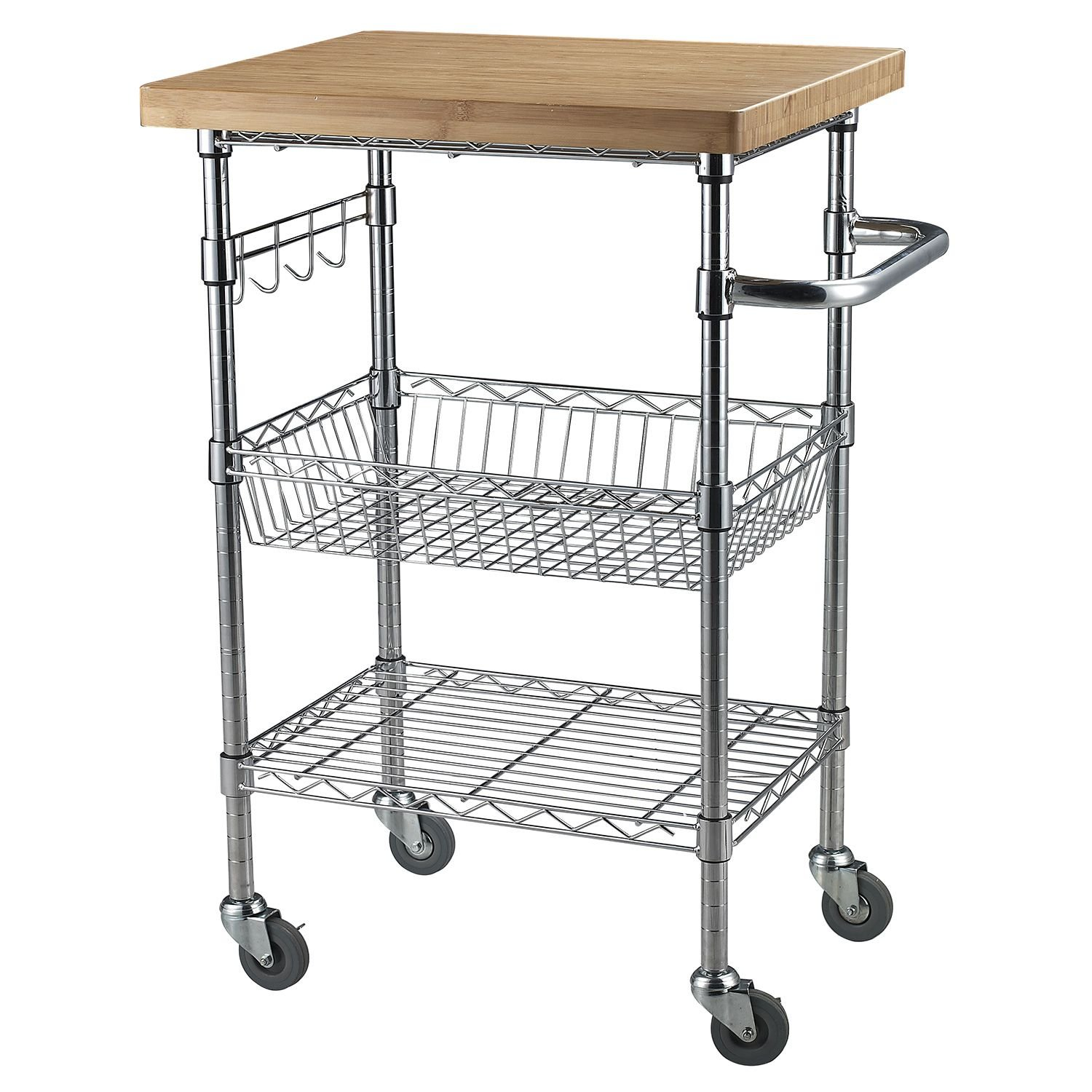 Copper Bamboo Kitchen Serving Cart Black Friday Deal 2020