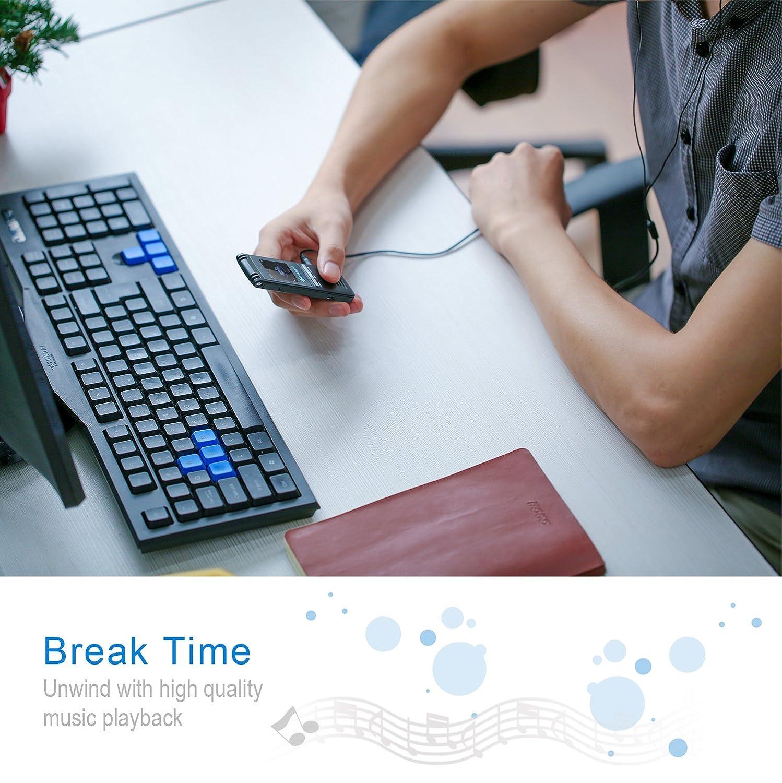 Etekcity 8 GB 560 horas nuestro grabadora de voz Digital y MP3 ...