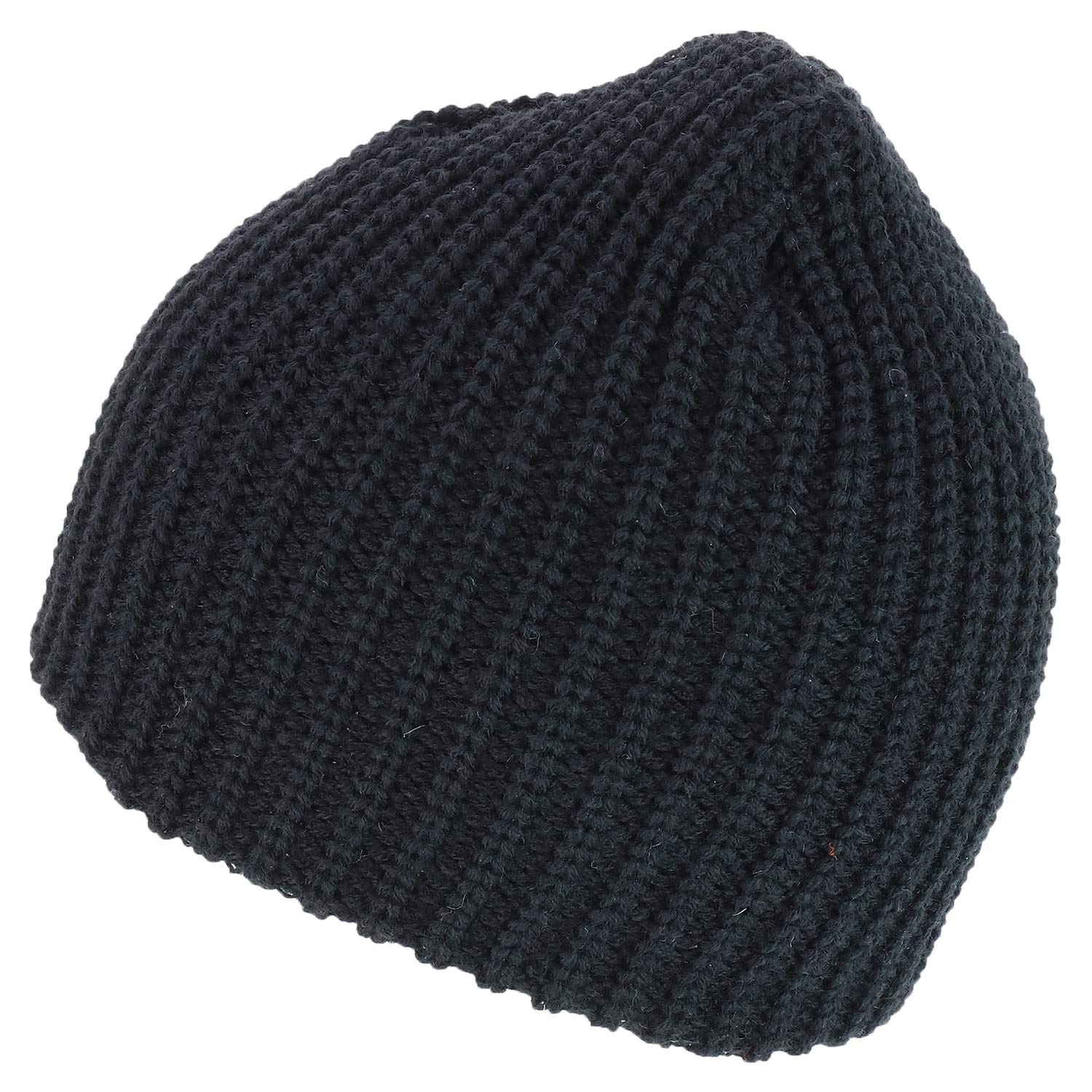 Armycrew Thick Ribbed Knit Winter Short Beanie 2 Pack