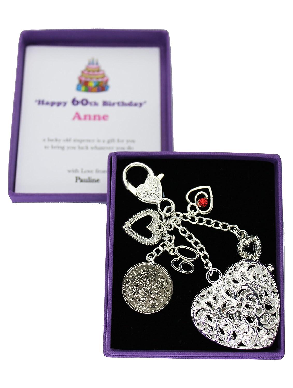 Happy 60th Birthday Lucky Sixpence Keepsake Gift Sweet Treasure