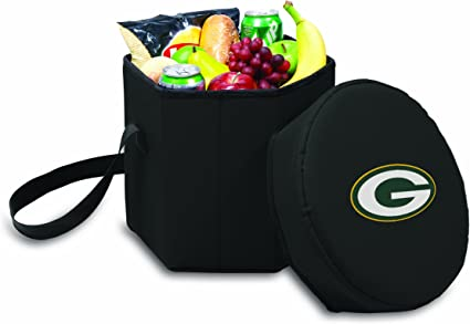 NFL Green Bay Packers Bongo Insulated Collapsible Cooler Black Picnic Time 596-00-179-124-2