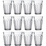 Duralex Picardie Highball Cocktail Glasses - 360ml Glass Tumblers - Pack of 12