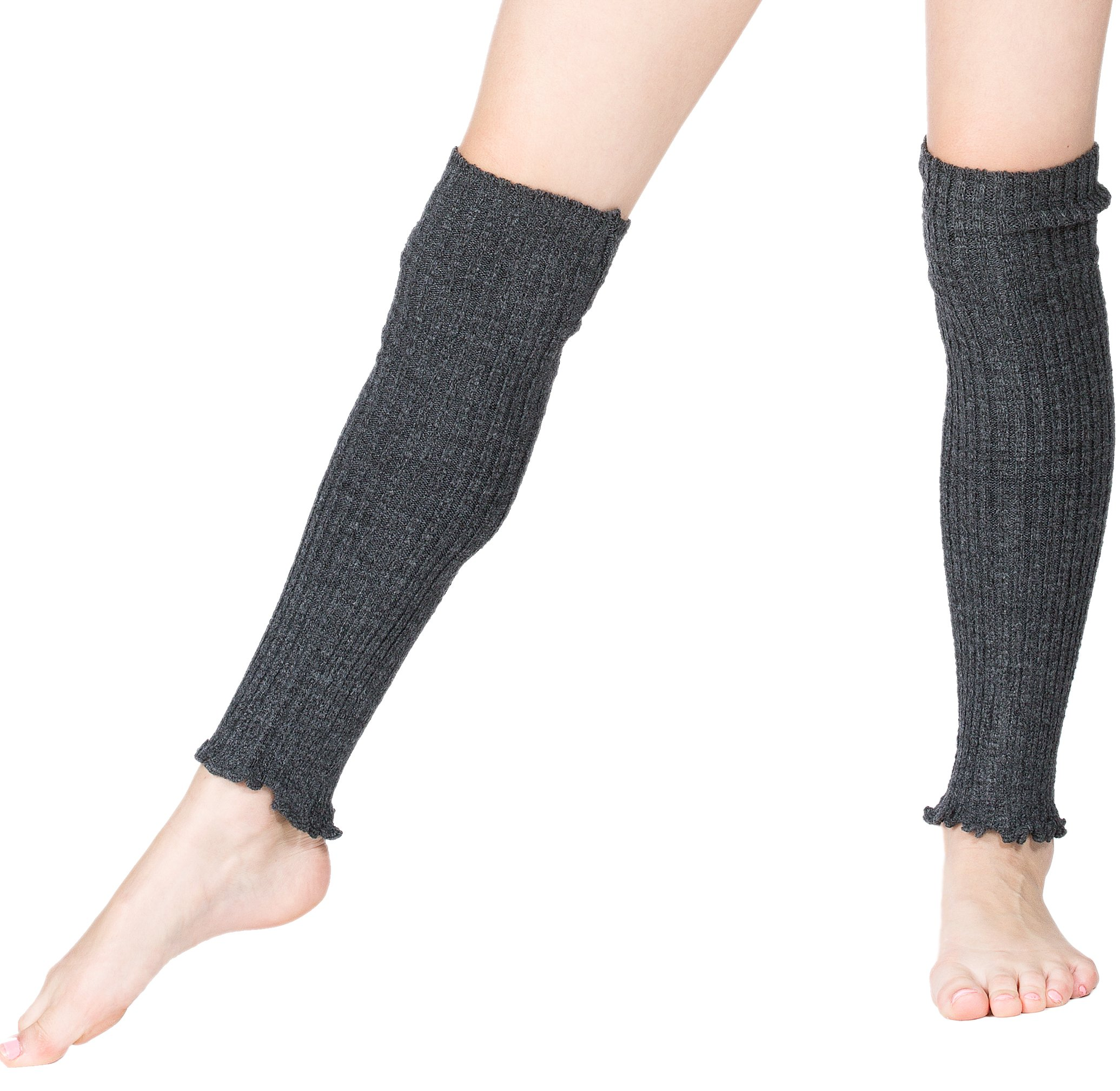 New York City Black KD dance New York 16 Inch Women's Leg Warmers Double as Arm Warmers Ribbed Stretch Knit Made In USA
