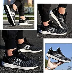 AX BOXING Zapatillas Hombres Deporte Running Sneakers Zapatos para Correr Gimnasio Deportivas Padel Transpirables Casual 40-46