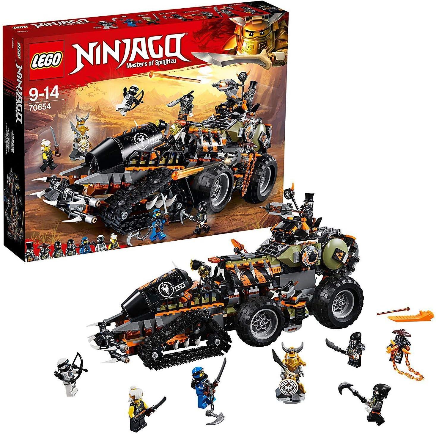 LEGO Ninjago Dragon Hunters Dieselnaut Toy Tank, Ninja Warriors Vehicle Building Sets for Kids