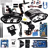 Kuman ロボット Arduinoキット ロボットカー ロボットアーム 4自由度 スマート 2輪 HD720Pカメラ 自作キット DIYキット iOS/android/PCに適用 Sm5-1