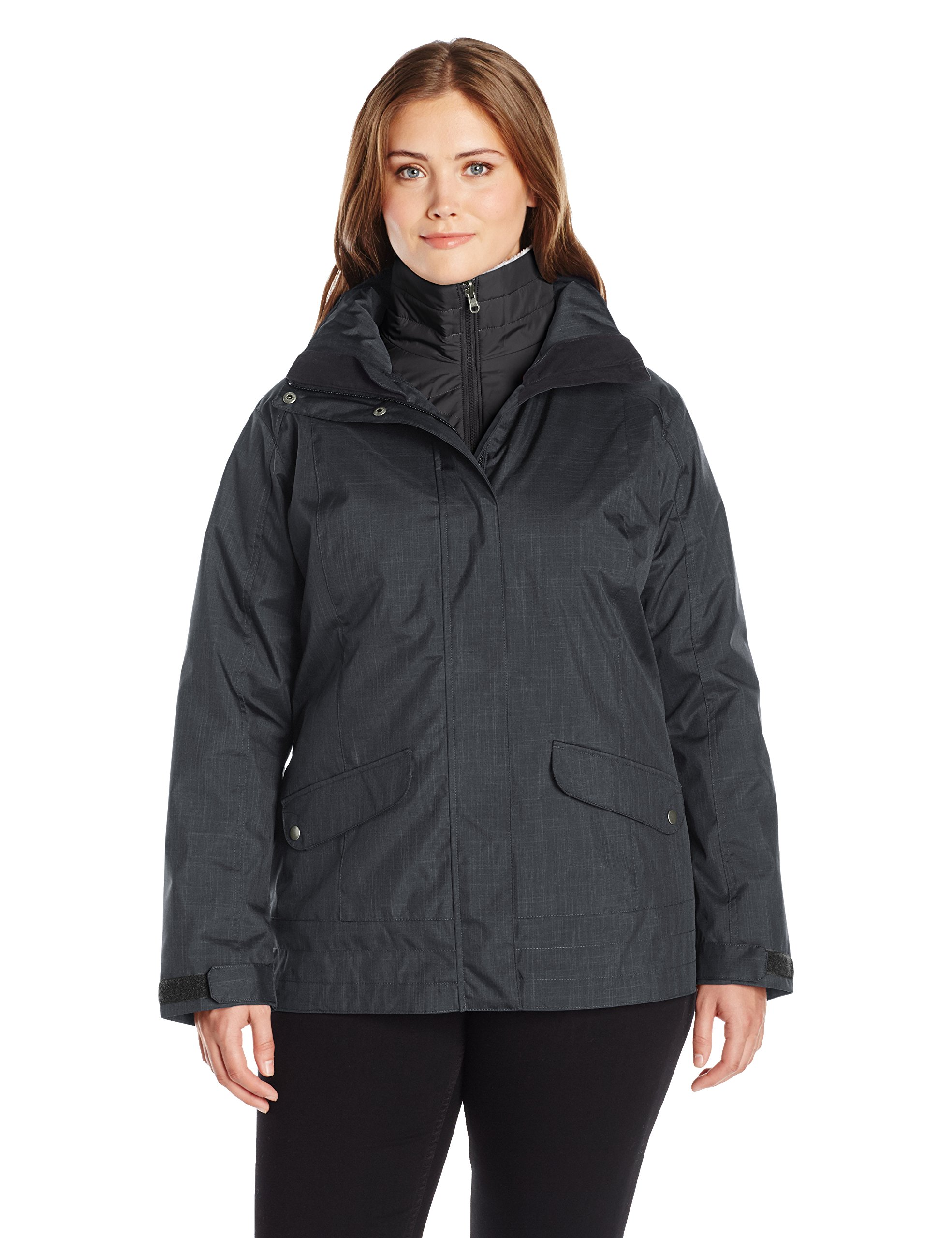 Columbia Women's Plus-Size Sleet To Street Interchange Jacket, Black, 3X by Columbia