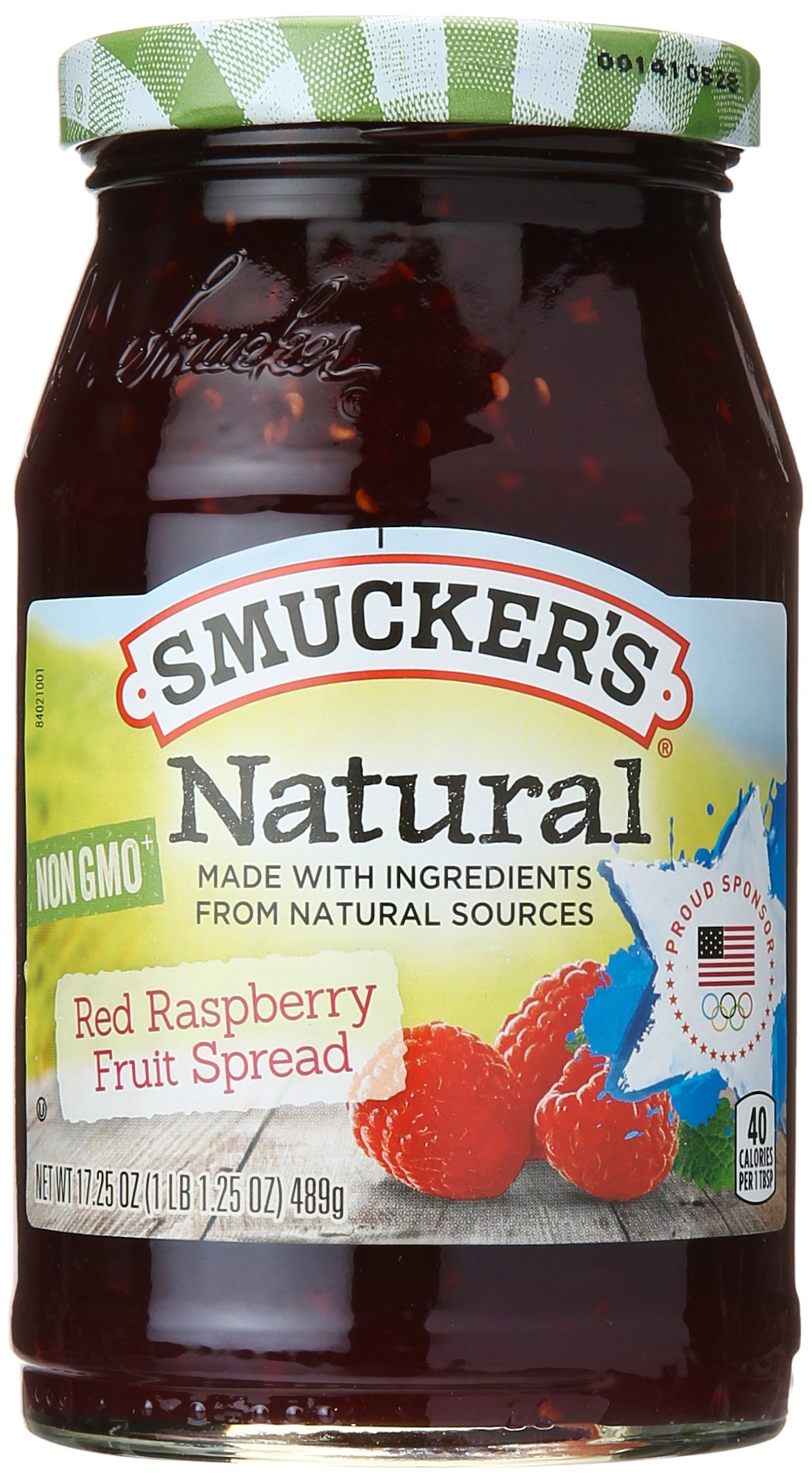 SMUCKER'S Natural Fruit Spread Jar, Red Raspberry, 17.25 oz