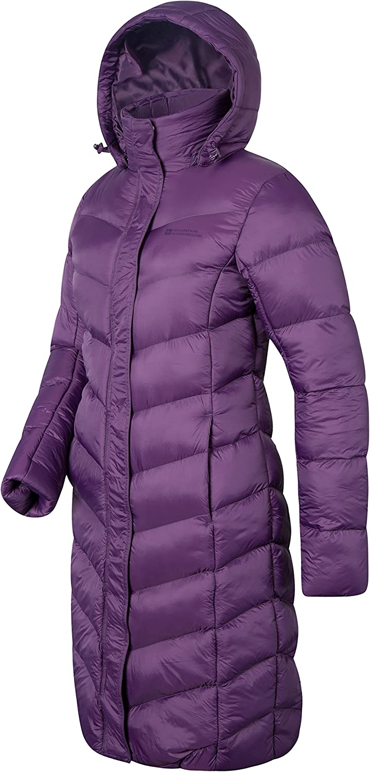 Mountain Warehouse Alexa Womens Padded Jacket Pockets Ideal for Winter /& Wet Weather Storm Flap Lightweight Water Resistant Adjustable Hoodie