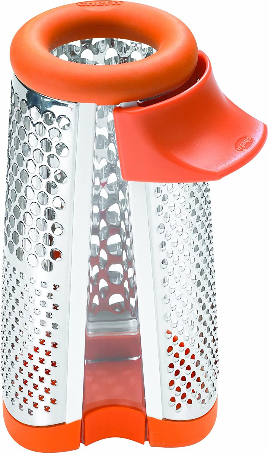 Chef'n Tower Grater 4 in 1 Stainless Steel Cheese Grater, Apricot Chef'n 103-046-008
