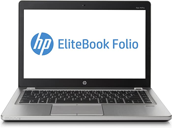 HP EliteBook Folio 9470m 14-Inch Laptop i7-3687U 8GB 256GB-SSD Windows 7 (Silver)