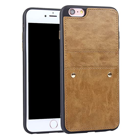 low priced 10af3 2ea29 iPhone 6 Plus Case, iPhone 6S Plus card Case, Dassions Wallet Phone Case  Leather Slim Back Case Cover, iPhone 6 Plus Wallet Leather Back Case With  ...