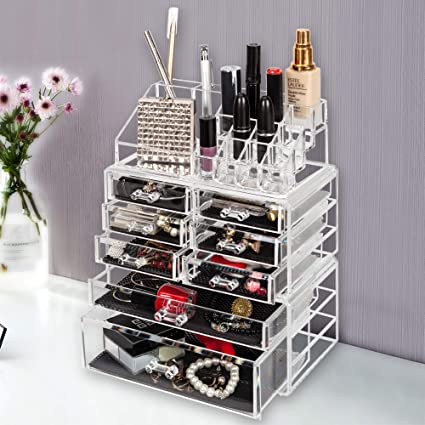 d00f67debb4d Amazon.com: Wegi King Transparent Makeup Organizer,Cosmetic Jewerly ...