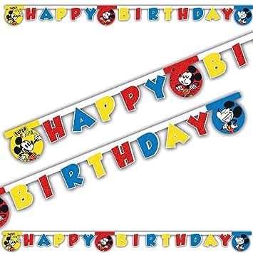 2m Happy Birthday Partykette Mickey Mouse Super Cool Als Deko