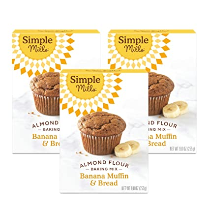 Amazon Com Simple Mills Almond Flour Baking Mix Gluten Free Banana Bread Mix Muffin Pan Ready Made With Whole Foods 3 Count Packaging May Vary Grocery Gourmet Food