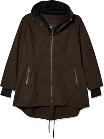 French Connection Women's Hooded Softshell with Sweatshirt Bib
